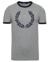 grå fred perry tshirt