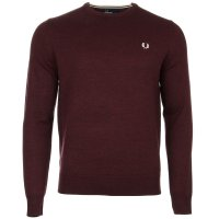 fred perry tröja mahogny