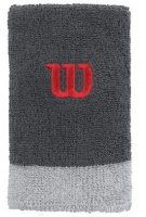 WILSON Extra Wide Wristband 2-pack Grey