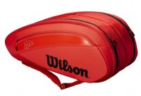 tennis bag wilson federer red