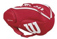 shop red tennis bag racketbag wilson