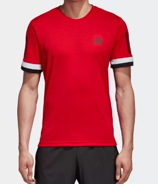 ADIDAS Club 3 Stripes Tee Red