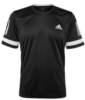 ADIDAS Club 3 Stripes Tee Black