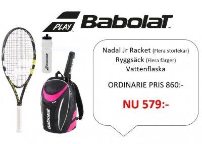 BABOLAT Nadal Junior + BABOLAT Backpack Club (blå eller rosa) - Visa ... 580e4439728ac