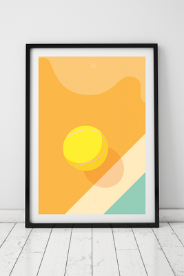 Ess Tennis Orginalillustration Yellow Ball