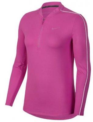 new concept d8720 6471d Nike Court Half Zip Women Fuchsia Damer Tenniskläder