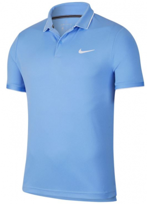 NIKE Court dry Polo Team Mens Blue