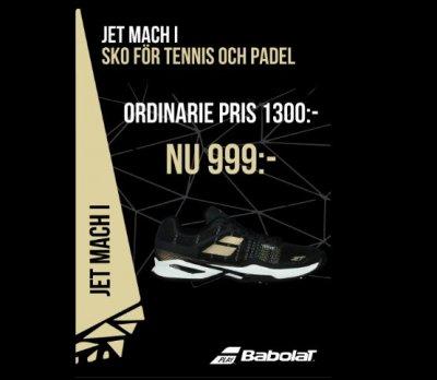 finest selection bd587 049ef BABOLAT Jet Mach I grusskor eller Padelskor