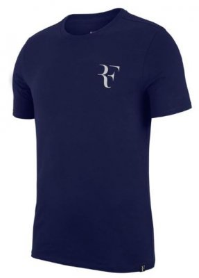 3ef5e6e8 NIKE RF Tee Blue - Mens - Tennis Clothing - Tennisshopen.se