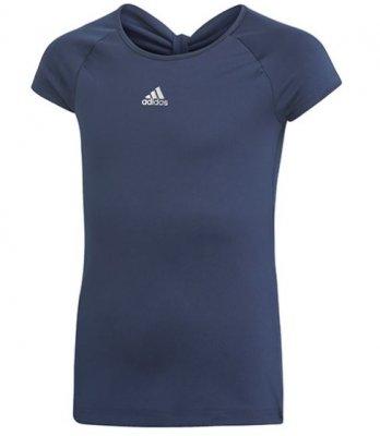 4976f79faf89 Start · Tennis Clothing · Girls; ADIDAS Girls Ribbon Tee Navy. tennis wera  for kids