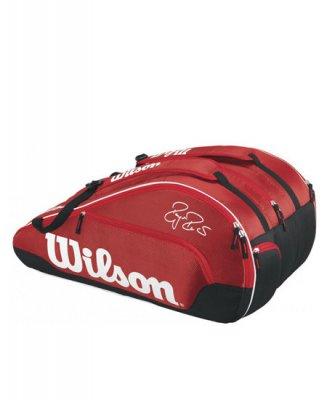 678c0184691 WILSON Federer Team III 12 Pack Red - Tennis bags - Tennisshopen.se
