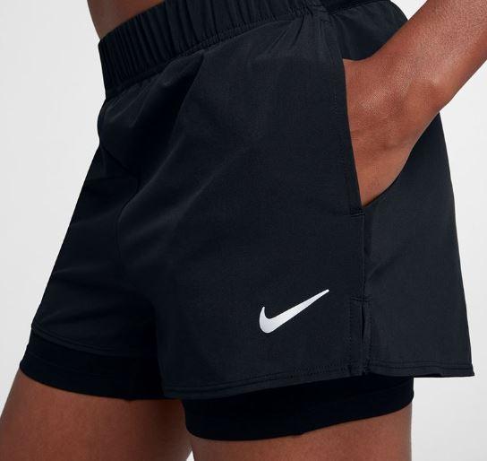 cabfeef5f5d80 NIKE Court Flex Shorts Black w pockets! - Women - Tennis Clothing ...