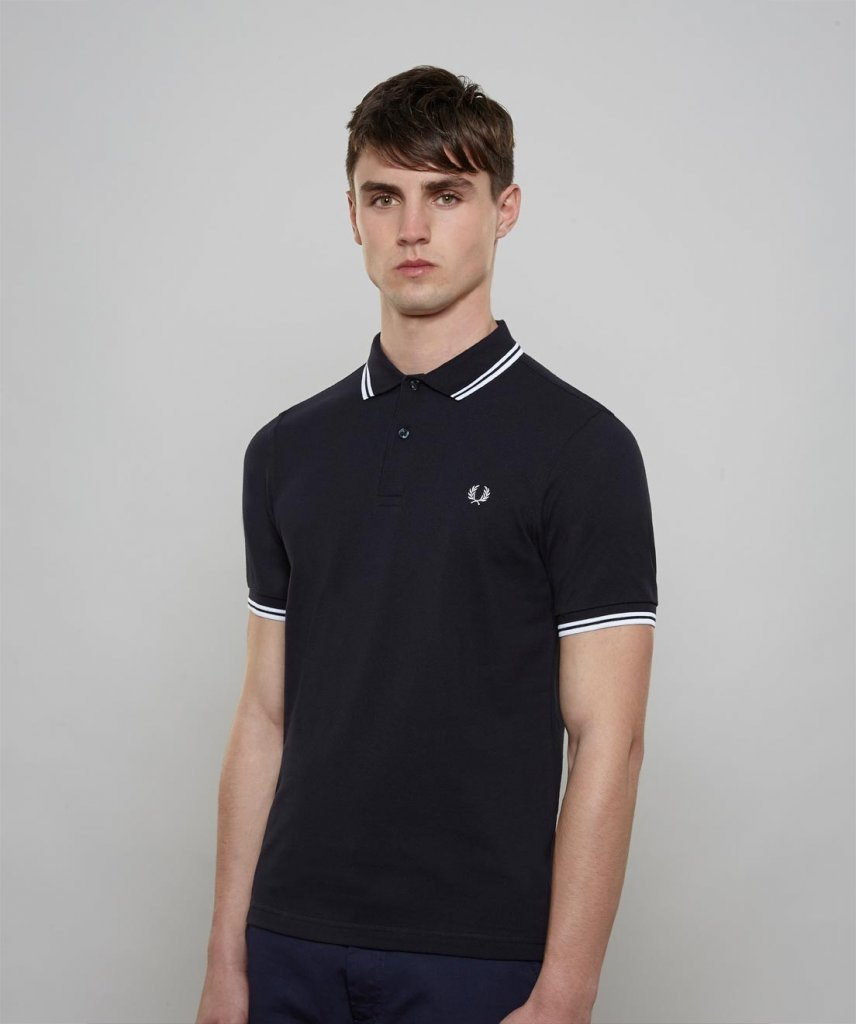 f15fa387d Fred Perry slim fit twin tipped shirt - Herr - Fred Perry - Brands ...