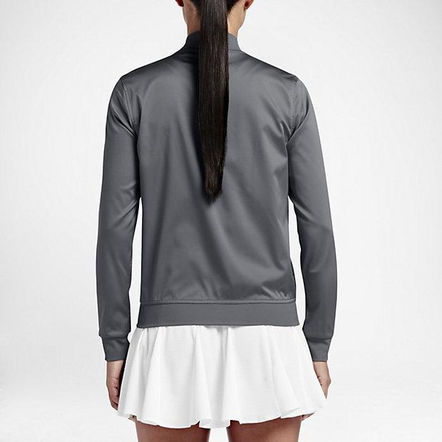 the best attitude c77b2 37917 Nike träningsjacka tennis dam Köp tennisjacka för damer uppvärmning grå  feminin tennisjacka ...