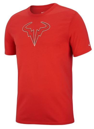 Nike Rafa Dry Tee Red Mens Tennis Clothing Tennisshopen Se